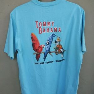 Tommy Bahama Sz Medium Graphic T Shirt Parrots